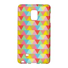 Triangle Pattern Samsung Galaxy Note Edge Hardshell Case by Kathrinlegg