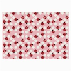 Spot The Ladybug Glasses Cloth (large, Two Sided) by Kathrinlegg