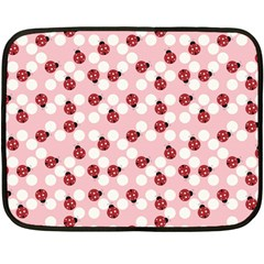 Spot The Ladybug Mini Fleece Blanket (two Sided) by Kathrinlegg