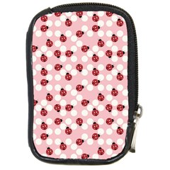 Spot The Ladybug Compact Camera Leather Case by Kathrinlegg