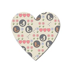 Love Birds Magnet (heart) by Kathrinlegg