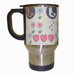 Love Birds Travel Mug (white) by Kathrinlegg