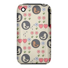 Love Birds Apple Iphone 3g/3gs Hardshell Case (pc+silicone) by Kathrinlegg