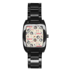 Love Birds Stainless Steel Barrel Watch by Kathrinlegg