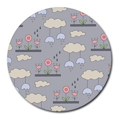 Garden In The Sky 8  Mouse Pad (round)