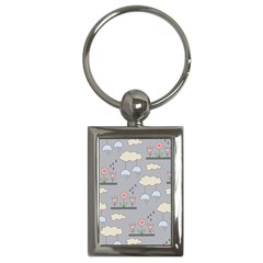 Garden In The Sky Key Chain (rectangle) by Kathrinlegg
