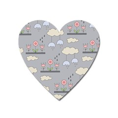 Garden In The Sky Magnet (heart) by Kathrinlegg
