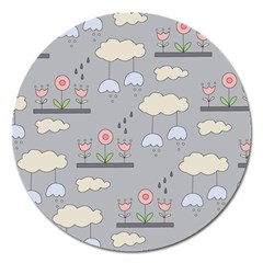 Garden In The Sky Magnet 5  (round)