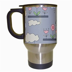 Garden In The Sky Travel Mug (white) by Kathrinlegg