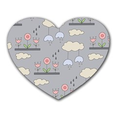 Garden In The Sky Mouse Pad (heart) by Kathrinlegg