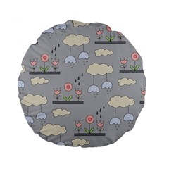 Garden In The Sky Standard 15  Premium Flano Round Cushion  by Kathrinlegg