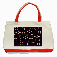 Summer Garden Classic Tote Bag (red)