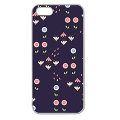 Summer Garden Apple Seamless Iphone 5 Case (clear) by Kathrinlegg