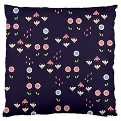 Summer Garden Large Flano Cushion Case (two Sides) by Kathrinlegg