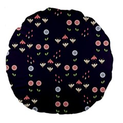 Summer Garden Large 18  Premium Flano Round Cushion  by Kathrinlegg