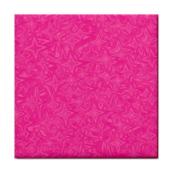 Abstract Stars In Hot Pink Ceramic Tile by StuffOrSomething