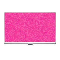 Abstract Stars In Hot Pink Business Card Holder by StuffOrSomething