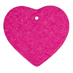 Abstract Stars In Hot Pink Heart Ornament (two Sides) by StuffOrSomething