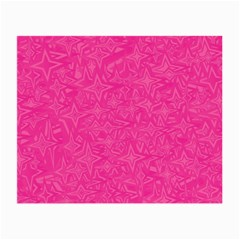 Abstract Stars In Hot Pink Glasses Cloth (small, Two Sided) by StuffOrSomething