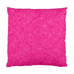 Abstract Stars In Hot Pink Cushion Case (single Sided)  by StuffOrSomething