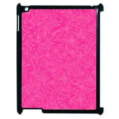 Abstract Stars In Hot Pink Apple Ipad 2 Case (black) by StuffOrSomething
