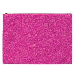 Abstract Stars In Hot Pink Cosmetic Bag (xxl) by StuffOrSomething