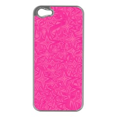 Abstract Stars In Hot Pink Apple Iphone 5 Case (silver) by StuffOrSomething