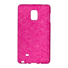 Abstract Stars In Hot Pink Samsung Galaxy Note Edge Hardshell Case