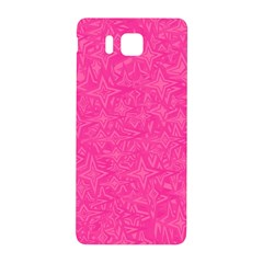 Abstract Stars In Hot Pink Samsung Galaxy Alpha Hardshell Back Case by StuffOrSomething