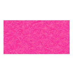 Abstract Stars In Hot Pink Satin Shawl by StuffOrSomething