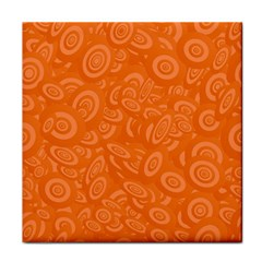 Orange Abstract 45s Ceramic Tile by StuffOrSomething