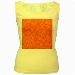 Orange Abstract 45s Women s Tank Top (yellow) by StuffOrSomething
