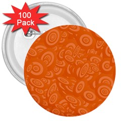 Orange Abstract 45s 3  Button (100 Pack)