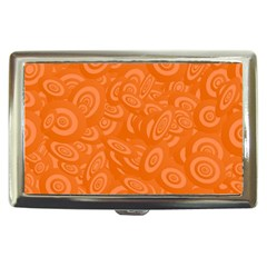 Orange Abstract 45s Cigarette Money Case by StuffOrSomething