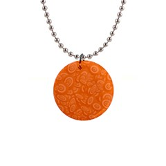 Orange Abstract 45s Button Necklace by StuffOrSomething