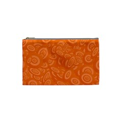 Orange Abstract 45s Cosmetic Bag (small) by StuffOrSomething