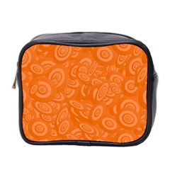 Orange Abstract 45s Mini Travel Toiletry Bag (two Sides) by StuffOrSomething