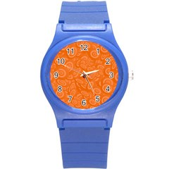 Orange Abstract 45s Plastic Sport Watch (small) by StuffOrSomething