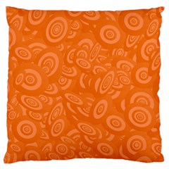 Orange Abstract 45s Large Cushion Case (two Sided)  by StuffOrSomething