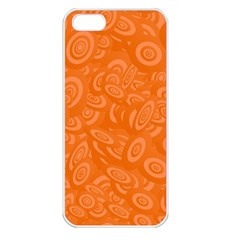 Orange Abstract 45s Apple Iphone 5 Seamless Case (white)