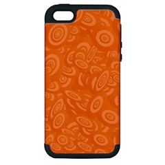 Orange Abstract 45s Apple Iphone 5 Hardshell Case (pc+silicone) by StuffOrSomething