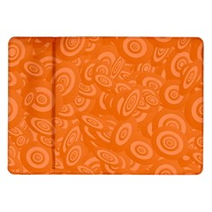 Orange Abstract 45s Samsung Galaxy Tab 10 1  P7500 Flip Case by StuffOrSomething