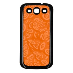 Orange Abstract 45s Samsung Galaxy S3 Back Case (black) by StuffOrSomething