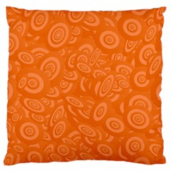 Orange Abstract 45s Large Flano Cushion Case (one Side) by StuffOrSomething
