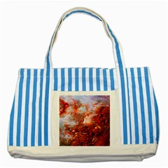 Star Dream Blue Striped Tote Bag by icarusismartdesigns