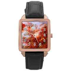 Star Dream Rose Gold Leather Watch  by icarusismartdesigns