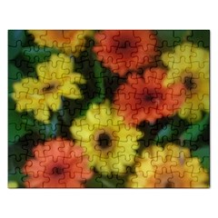 Orange Yellow Daisy Flowers Gerbera Jigsaw Puzzle (rectangle) by yoursparklingshop