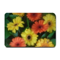 Orange Yellow Daisy Flowers Gerbera Small Door Mat by yoursparklingshop