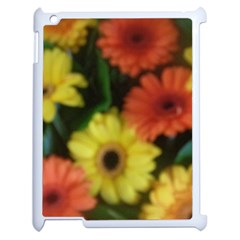 Orange Yellow Daisy Flowers Gerbera Apple Ipad 2 Case (white) by yoursparklingshop