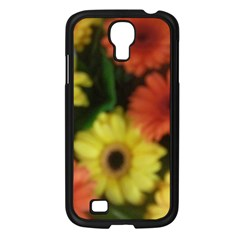 Orange Yellow Daisy Flowers Gerbera Samsung Galaxy S4 I9500/ I9505 Case (black) by yoursparklingshop